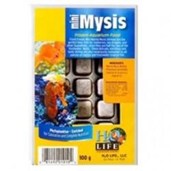 V2O Aquarium Foods Mini Marine Mysis Shrimp Frozen Blister Packed Cubes - 100 Gram