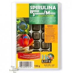 V2O Spirulina Brine Shrimp/Mysis Blister Cube 100g
