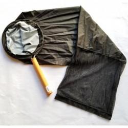 "Tom's Aquatics Black Sock Net w/ Wood Handle 12"" Diameter"
