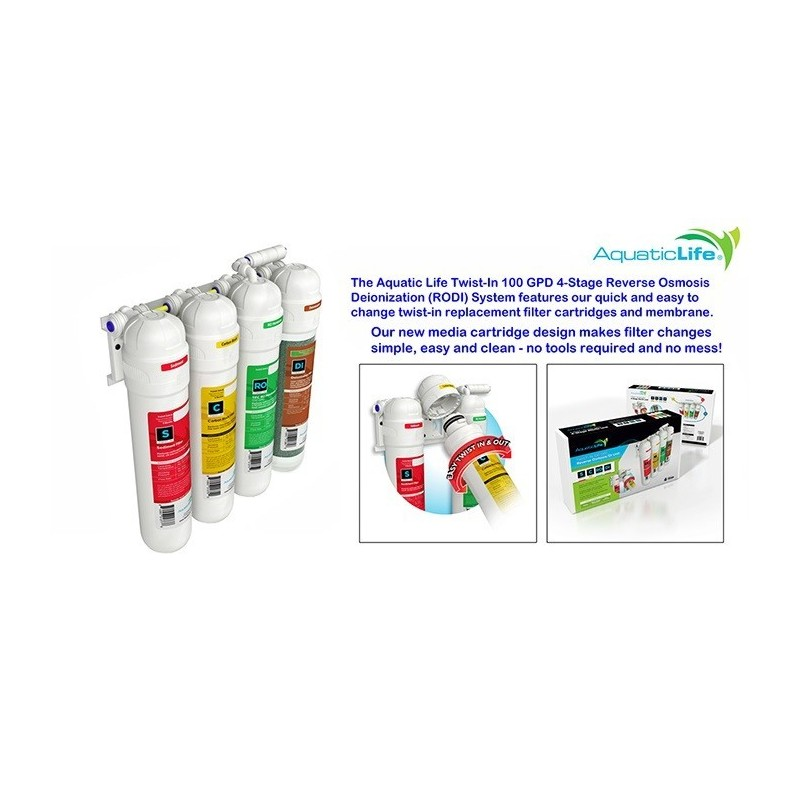 Reverse Osmosis & Deionization Pet Supplies Aquatic Life Twist-in Dual Deionization Replacement Filtration Cartridge di