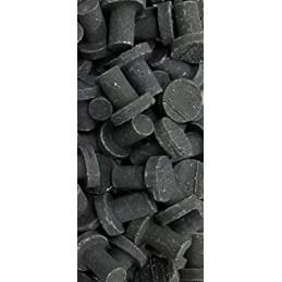 """.75"""" Ceramic Coral Plug Black"""