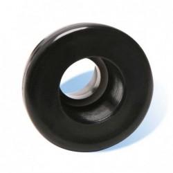 "½"" Bulkhead Fitting (Black) TH X TH"